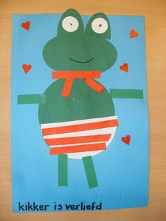 kikker is verliefd : knippen en plakken Frog Theme Preschool, Creative Writing Ideas, Toddler Art, Preschool Lessons, Sensory Bins, Spring Time, Fairy Tales, Origami, Beautiful Pictures