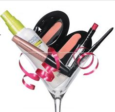 I like the idea of having favor glasses instead of goodie bags for my first Avon party!