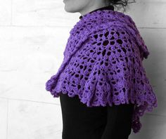 Shawl light purple by MmeDefargeYarnworks on Etsy