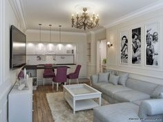 perfect for a small space. #living room #dining room