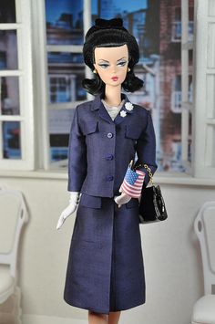 63-3. Jackie O navy suit