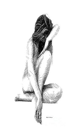 Black And White Woman Digital Art by Rafael Salazar