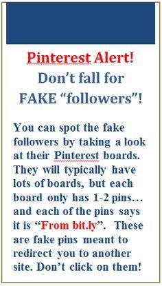 Cuidado con los seguidores de mentira.