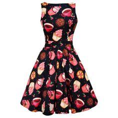 Lady-Vintage-Tea-Cups-Cupcakes-Dress-Rockabilly-Pin-Up-Retro-Cute-Swing