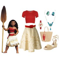 Moana dapper day by misstiffiniemae on Polyvore featuring WearAll, Société Anonyme, Steven by Steve Madden, Sensi Studio, Kate Spade, Più & Più and Disney