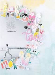 Beach Layout mit dem Julikit der SBW | Scrap Sweet Scrap | Bloglovin'