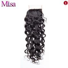 Volys Virgo Remy Hair Swiss Lace Closure Water Wave Free Part Human Hair Density Natural Color Can Be Restyled Cheap Human Hair, Human Hair Lace Wigs, Remy Human Hair, Brazilian Hair, Brazilian Weave, Curly Weaves, Wigs For Black Women, Free Hair, Lace Frontal