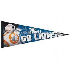 NFL Detroit Lions 12 x 30 Premium BB8 Pennant