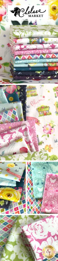 Chelsea Market is a stunning collection by Brenda Walton for Blend Fabrics available at Shabby Fabrics