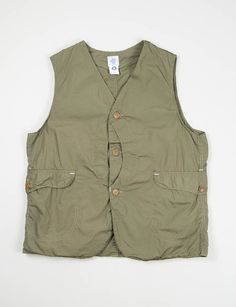 Post Overalls Olive Pima Poplin Royal Traveler Vest