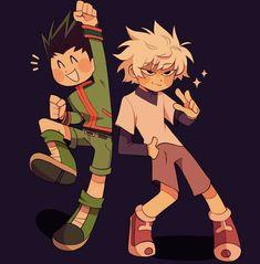 Gon and Killua Otaku Anime, Anime In, Anime Bebe, Hunter X Hunter, Hunter Anime, Alluka Zoldyck, Gon Killua, Hisoka, Yoshihiro Togashi
