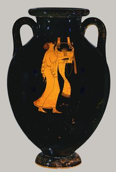 Amphora, ca. 490 b.c.; Classical; red-figure Attributed to the Berlin Painter Greek, Attic | http://www.metmuseum.org