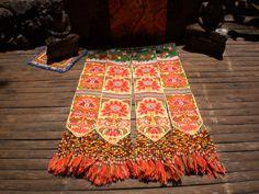 Embroidered Textile Tribal Panel by KulshiMumkin on Etsy