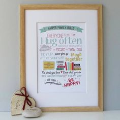 personalised family rules print by wink design | notonthehighstreet.com