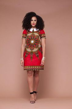 Dasmina African Print Shift Dress