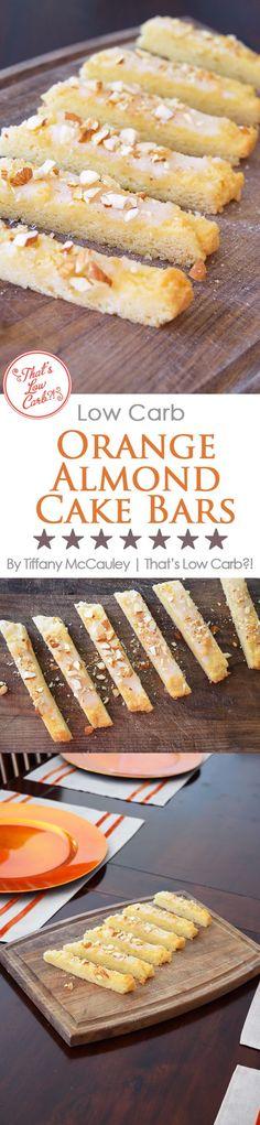 Low Carb Recipes | Orange Almond Cake Bars Recipe | Low Carb Desserts