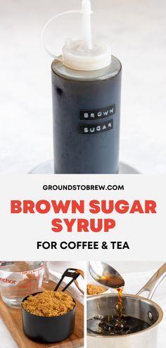 Make Brown Sugar, Brown Sugar Syrup, Brown Sugar Simple Syrup Recipe, Cold Brew Coffee Recipe, Coffee Drink Recipes, Iced Coffee Drinks, How To Make Syrup, Make Simple Syrup, Coffee Milk