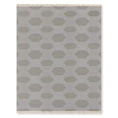 Hive Flatweave, Steeple Gray/Vapor Gray #williamssonoma
