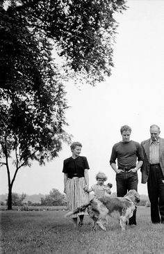 goldenageestate:  Marlon Brando photographed by Art Shay with his   sister Frances Brando, nieceand father Marlon Brando Sr. during a visit, Libertyville, Illinois ~ 1951