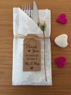 Tischkarten Hochzeit / Tags Thank you for sharing