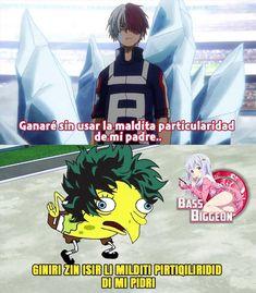 Boku No Hero Academia, My Hero Academia Memes, Hero Academia Characters, Cute Memes, Funny Memes, Familia Anime, Manga Story, Hero 3, Shinigami
