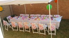 Table setting for craft party