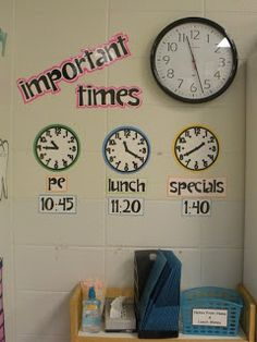 Important Times for our class