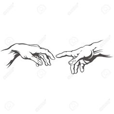 Hand for hand tattoo. Creation of Adam. - Hand for hand tattoo. Creation of Adam. Royalty free cliparts, vectors, and stock illustration. Body Art Tattoos, Dream Tattoos, Sketches, Tattoos, Traditional Tattoo, Art Tattoo, Hand Tattoos, Art, Hand Art