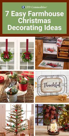 Diy Christmas Decorations For Home, Christmas Crafts For Gifts, Farmhouse Christmas Decor, Christmas Holidays, Farmhouse Decor, Farmhouse Style, Christmas Ideas, Farmhouse Ideas, Christmas Decorating Ideas