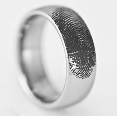 Mens Wide Tungsten Wedding Ring Engraved Fingerprint Promise Band Domed Available in Whole and Half Size Hunting Wedding Rings, Engraved Wedding Rings, Tungsten Wedding Rings, Pear Shaped Engagement Rings, Solitaire Engagement, Promise Band, Just In Case, Wedding Bands, Fingerprint Wedding