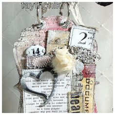 altered mini albums | Hanging tag. | Altered and Mini Albums