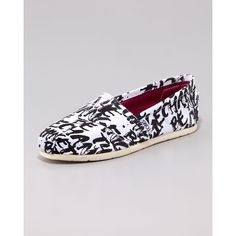 Women's TOMS Be the Change Slip-On ($85) ❤ liked on Polyvore