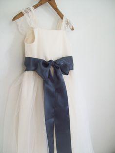 Organic cotton Flower girl dress ......tulle by OliveandFern, $99.00