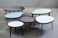 Via Cph - Farvet sofabord i rundt / ovalt design hos BoShop - Sofaborde i Århus