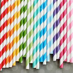 Retro Striped Straws (For a Rainbow Party) Party Vintage, Vintage Paper, Retro Vintage, Vintage Style, French Vintage, True Colors, All The Colors, Rainbow Paper, Rainbow Connection