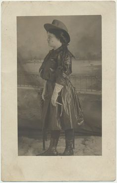 Wild West Show Cowgirl Real Photo Postcard by CrowCreekUnique..