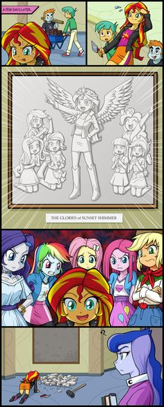 Sunset thinks she might regain control again. Boy, she thought wrong. My Little Pony Twilight, My Little Pony Comic, My Little Pony Pictures, Mlp My Little Pony, My Little Pony Friendship, Princess Twilight Sparkle, Princess Luna, Little Poni, Mlp Comics