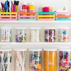 Home Office Organization, Craft Organization, Toddler Room Organization, Office Storage, Organizing, Diy Pour La Rentrée, Kids Homework Station, Small Craft Rooms, Craft Storage Ideas For Small Spaces