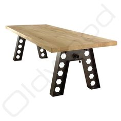 De grote massieve onderkant Industrial Table, Sofas, Dining Table, Net, Tables, Furniture, Home Decor, Style, October