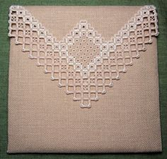 Lacy edge Hardanger ~ embroidered and uploaded to Pinterest by Lee Mason