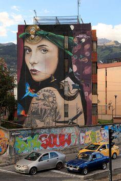 """""""La Princesa del Volcán"""" by Mantra (France) for Festival Detonarte 2015 in Quito, Ecuador."""