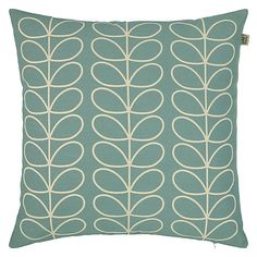Buy Duck Egg Orla Kiely Linear Stem Cushion from our Cushions range at John Lewis & Partners. Living Room Orange, New Living Room, Living Room Decor, Dining Room, Orla Kiely Cushions, Blue Cushions, Duck Egg Blue And Yellow, Old Kitchen Tables, Welcome To My House