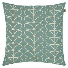 Buy Orla Kiely Linear Stem Cushion, Persimmon Online at johnlewis.com