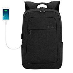 2c92884df9 KOPACK Lightweight Laptop Backpack USB Port Water Resistant 15.6 Inch Business  Slim Back Pack Travel Bag