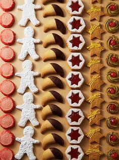 Kawaii Cookies, Tea Cookies, Galletas Cookies, Sugar Cookies, No Bake Cookies, Christmas Sweets, Noel Christmas, Christmas Baking, Christmas Cookies