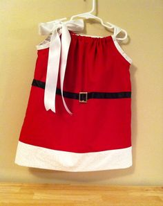 Santa Baby Christmas Pillow case Dress 8/9 by SarahJoyceDesigns