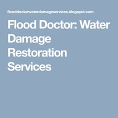 Flood Doctor: Water Damage Restoration Services Clogged Drains, Minimalist Showers, Restoration Services, Water Damage