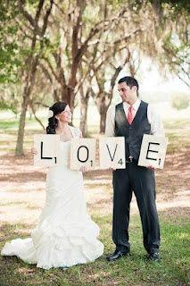 scrabble wedding