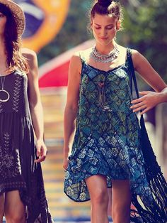 ONE Geo Shapeless Dress -  Has geometric and use of lace and runching by The Style Genome Project