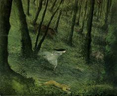 llustration for Snow White by Angela Barret